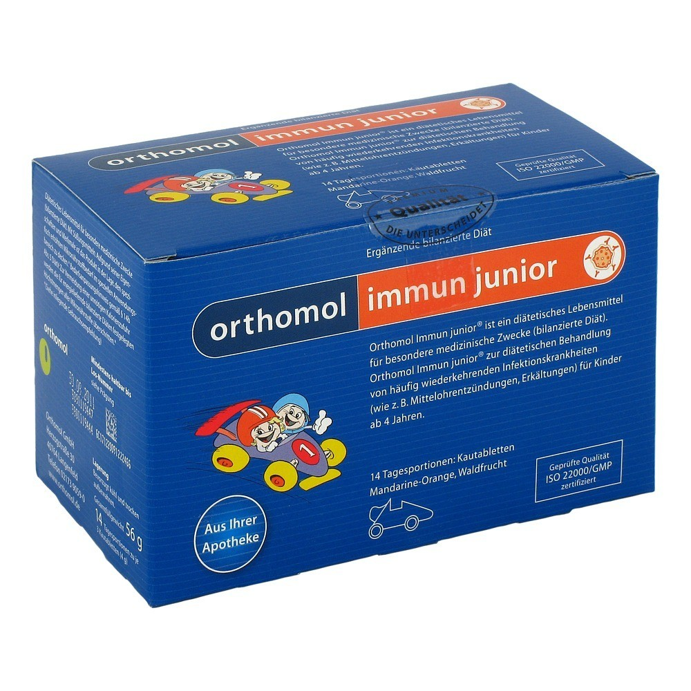 ORTHOMOL Immun Junior Kautabl.Manda.Orange Waldfr.